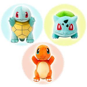 Pokemon Center 20th Anniversary Big Size Starter Plush