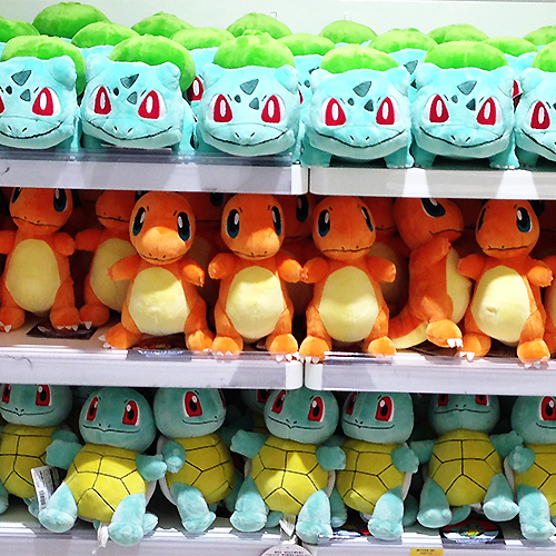 Pokemon Center Plush – Kanto Starters
